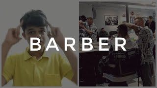 Why Barber Escape the barber shop? Watching here.  #funny video