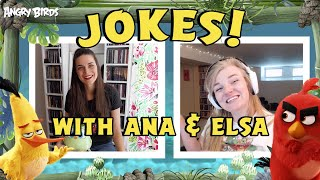 Angry Birds Jokes with Elsa & Ana