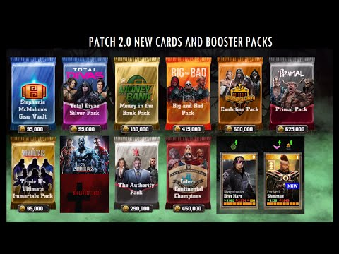 WWE Immortals - Patch 2.0 and how to get Sharpshooter Bret Hart and Evolved Sheamus, New Packs