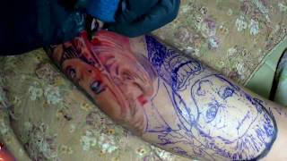 Tattoo Time Lapse-harley Quinn & Joker By Boom69tattoo สามชุกสักลายสุพรรณฯ