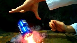 Coke can explosion at 62,000 fps - fail & win  - slow mo lab