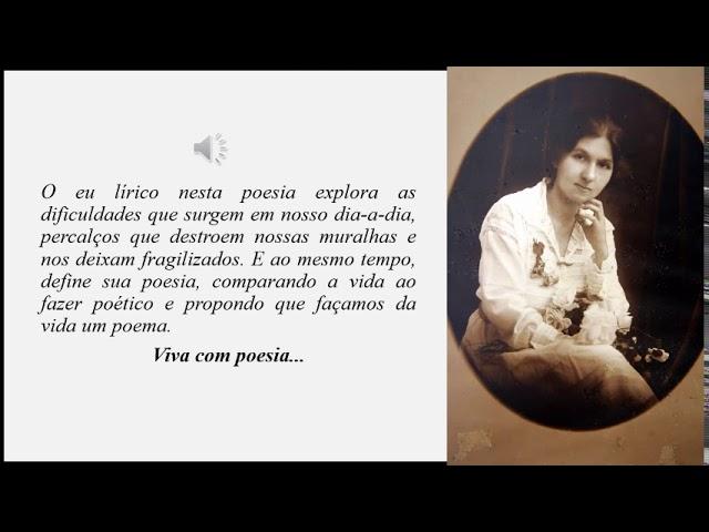 Audio poema Aninha e suas pedras, Cora Coralina