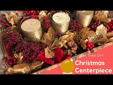 Easy Christmas Centerpiece | Dollar Tree DIY
