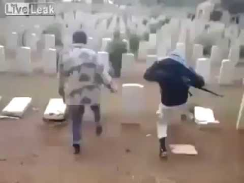 Muslims destroy graves of christian soldiers