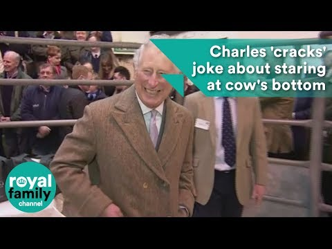 Prince Charles 'cracks' joke about staring at cow's bottom