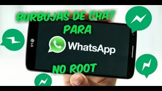 Burbujas de chat para WhatsApp al estilo Facebook Messenger