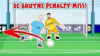 😲DE BRUYNE PENALTY MISS!😲 Man City vs Liverpool 1-1 2020 Goals Highlights Parody