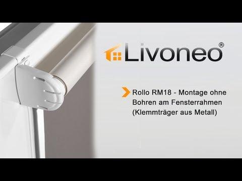 offizieller Shop neue Season klar in Sicht Rollo - Montage mit Metall Klemmträgern – ohne bohren