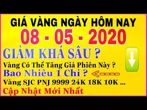 giá vàng 9999 hôm nay 8/5/2020 bao nhiêu một chỉ ? | giá VÀNG SJC 9999 24K GIẢM Khá Sâu Vẫn Cao ?