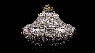 Antique 19thc Ottoman Empire Solid Silver Massive Jewellery Box, Turkey C.1890
