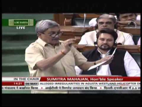 Manohar Parrikar reveals shocking facts on AgustaWestland de