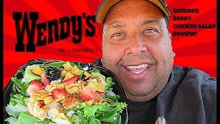 Wendy's® Summer Berry Chicken Salad REVIEW!
