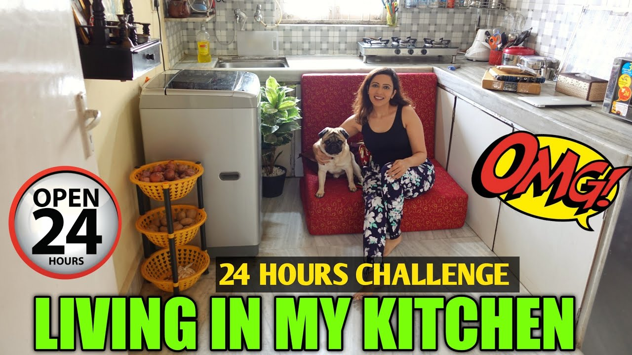 Living In KITCHEN For 24 Hours Challenge | Kitchen Tour 😀 Garima's Good Life