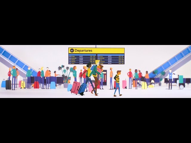 British Airways - Gatwick South Terminal Check-in Guide. Paper-craft Stop-motion animation