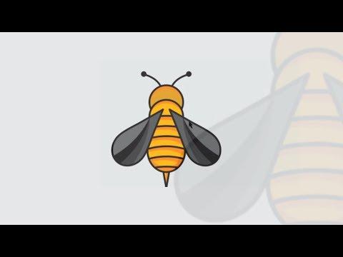 daily-design---bee-flat-icon-illustration