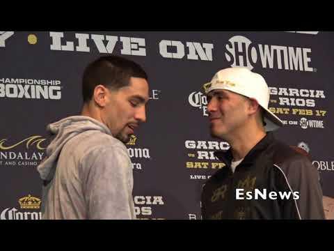 Brandon Rios Taunts Danny Garcia At Presser Face Off EsNews Boxing