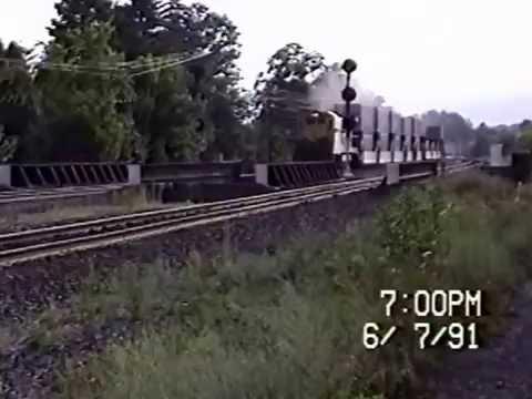 RDMVTL 184 RR ~ 7/7/1991 NYS&W EB @ Mp 290.9 ~ CORNING , NY  6: 59 PM