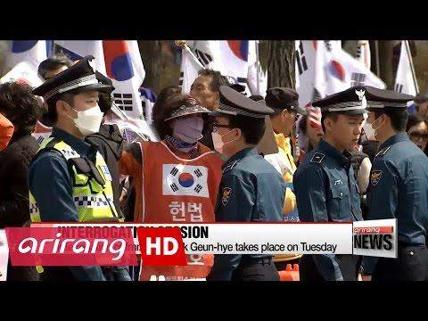 Prosecutors interrogate former President Park Geun-hye at detention center