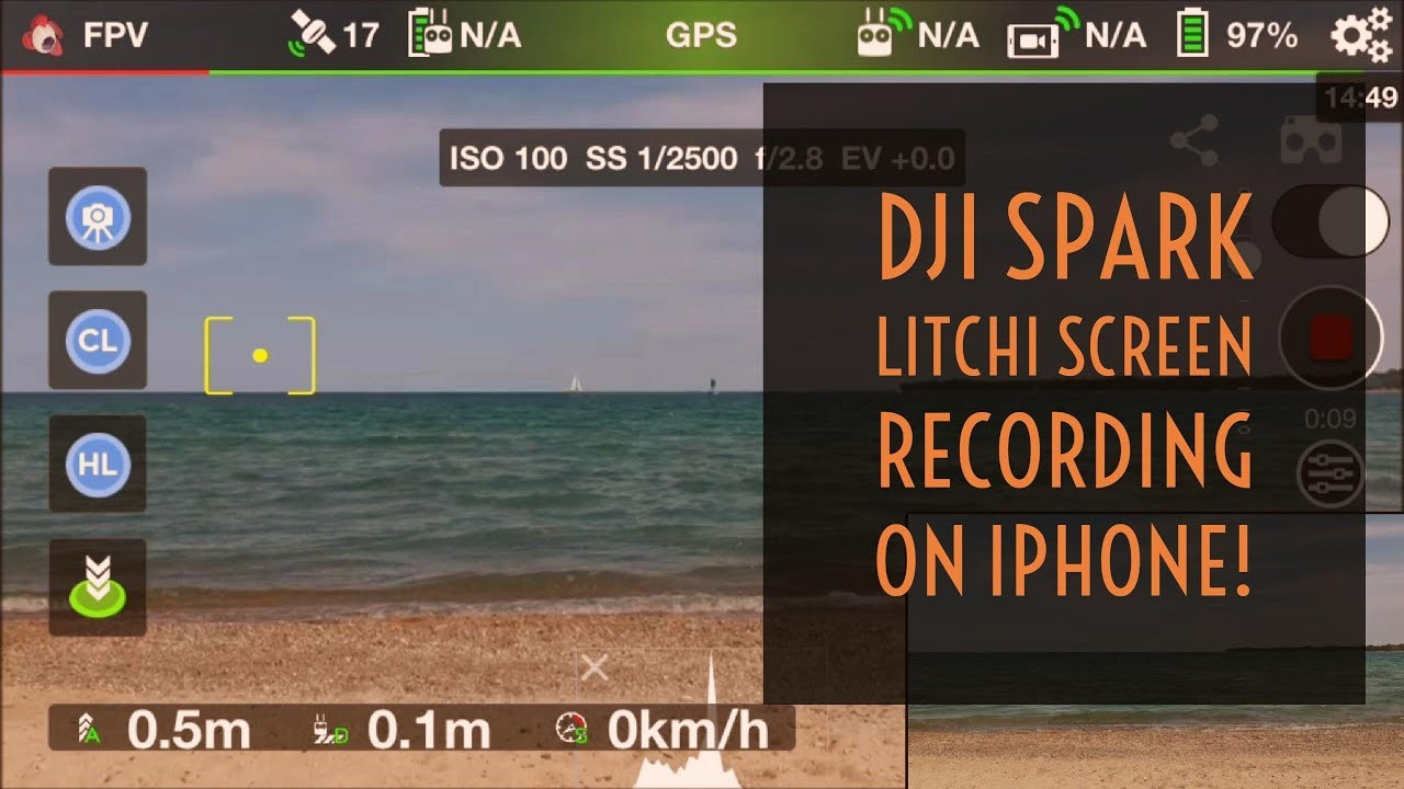 Video Drone - DJI Spark Litchi Screen Recording on Apple iPhone!