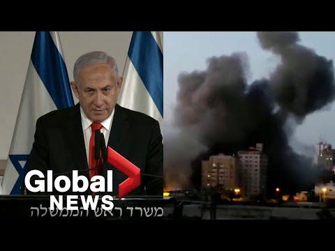 "Israel's Netanyahu says Hamas, Gaza militants will pay ""very heavy price"" for rocket fire"