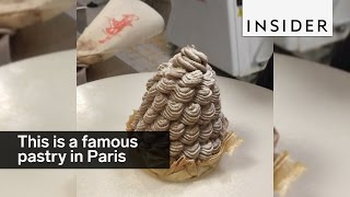 The Mont Blanc cake is of the most famous pastries in Paris
