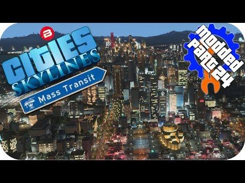 Cities Skylines Gameplay: AIRPORT TRANSIT LINKS! Cities: Skylines Mods MASS TRANSIT DLC Part 24