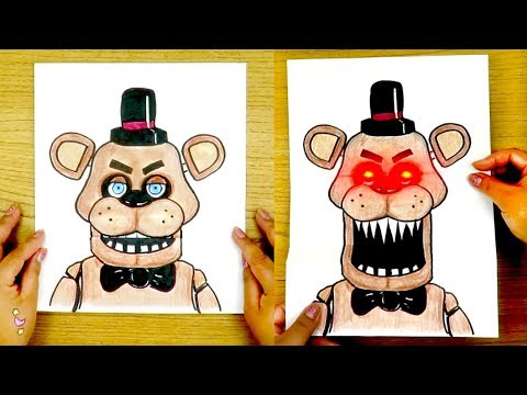 CREA TU MUÑECO FREDDY QUE ABRE LA BOCA 🐻 five nights at freddy's 🐻