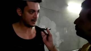 Jishu Sengupta with Rj Animesh on 91.9 Friends Fm kolkata