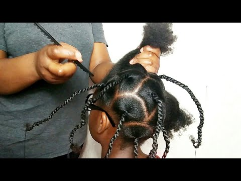 African threading hairstyle for kids girl/Kids Natural hairstyles for girls
