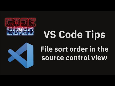 File sort order in the source control view