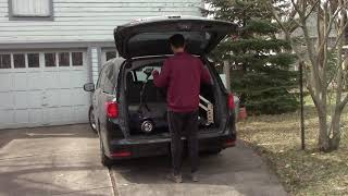 Multi-Lift w/PIR Wheelchair Adapter in Honda Odyssey:  Loading the Wheelchair (with explanation)