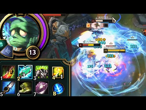 League of Legends but Amumu just heals from standing around doing nothing in fights loool
