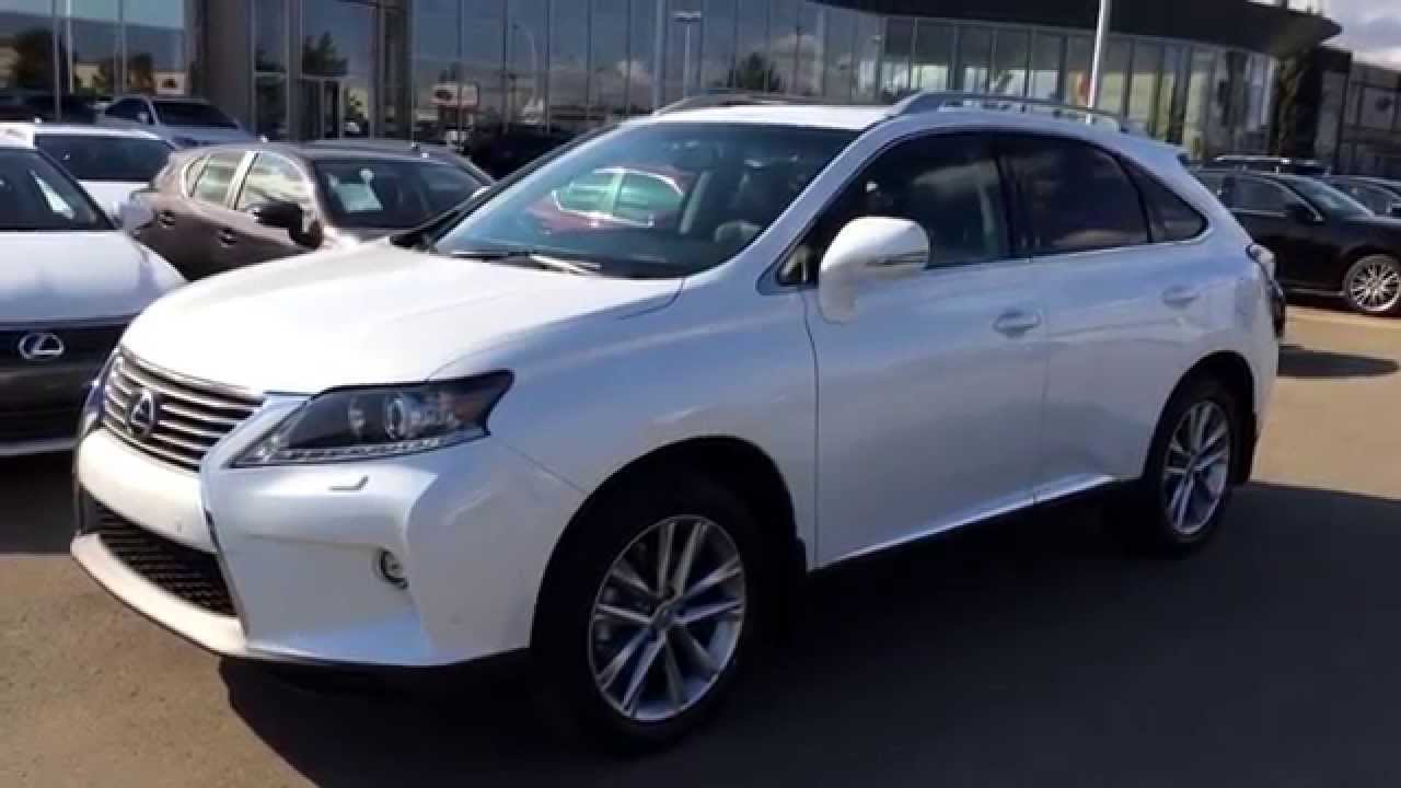 Beautiful 2015 White Lexus RX 350 AWD Technology Package Review   Executive Demo /  Lexus Of Edmonton   YouTube