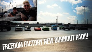Best Alternative to Building the Freedom Factory a GIANT Burnout/Drift Pad GRAND FINALE!!! (First Burnout Competition)