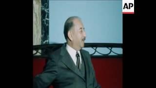 الرئيس العراقي احمد حسن البكر يلتقي وزير الخارجية الايراني عباس خلعتبري في بغداد 5 اذار 1978
