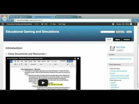 Educational Gaming and Simulations - Orientation