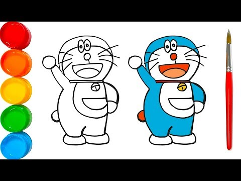 doraemon-coloring-and-drawing- -learn-how-to-draw- -color-for-kids- -kids-art-zone