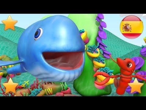 La Gran Ballena Azul    Rimas Para Niños   Para Bebes   Canciones Infantiles  Videos De Niños