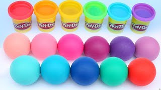 Learn Colors Play Doh Modelling Clay And Surprise