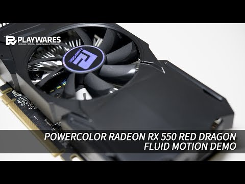 Powercolor Radeon Rx 550 Red Dragon Fluid Motion Demo Youtube