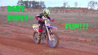 kids dirt bikes top speed on dirt and asphalt enduro  jumps and bumps!!