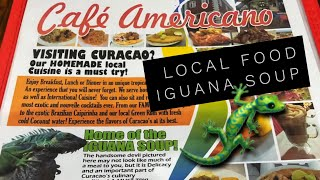 Iguana Soup. Traditional local food. Curacao