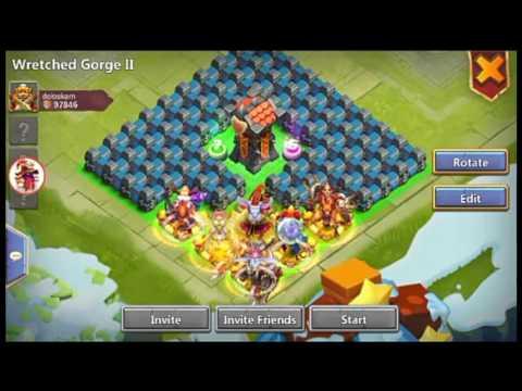 Castle Clash: Wretched Gorge Setup (solo)