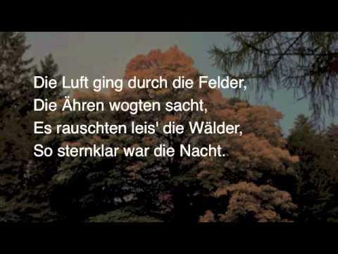 Gedichte joseph von eichendorff mondnacht
