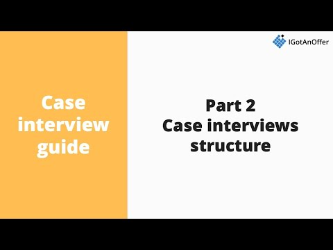 Case interview structure - 7 question types to know about - YouTube