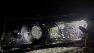 Toyota LC Prado 2018 в ночи - мощнейшая оптика радует глаз