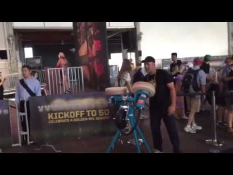 Football Catch At NFL Experience Pier 35 SF #SB50 #NFLKickoff