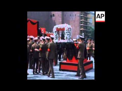 SYND 21 6 74 FUNERAL OF SOVIET HERO MARSHAL ZHUKOV IN MOSCOW