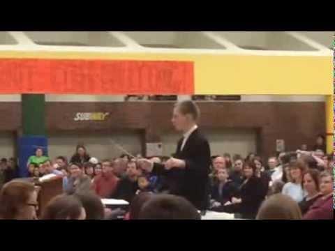 Kieran Kauffman conducting Mears Middle School Bands