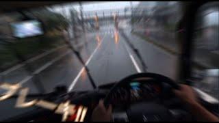 エアブレーキを掛ける動画 大型トラックを停止させる